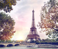 Paris sunset background. Stock Photo