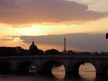 Paris Sunset Stock Photos