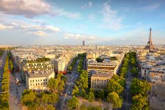 Paris sunset Royalty Free Stock Image