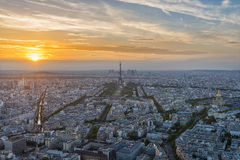 Paris Sunset Moment Royalty Free Stock Image