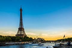 Paris sunset. Picture of Paris with the Eiffel Tower Royalty Free Stock Photography