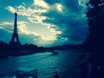 Paris. Sunset river Royalty Free Stock Image