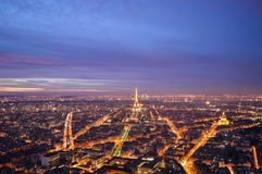 Paris at sunset. View of paris from Montmartre Stock Photo
