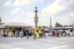 paris Sur le Place de la Concorde Image libre de droits
