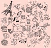 paris symboler vektor illustrationer