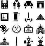 Paris symboler royaltyfri illustrationer