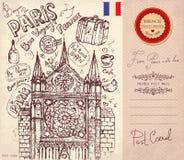 Paris symboler Arkivfoton