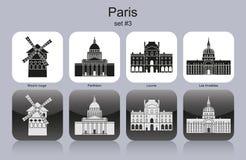 Paris symboler vektor illustrationer