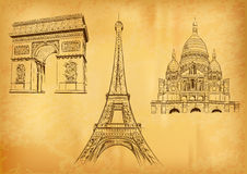 Paris symbols Royalty Free Stock Images