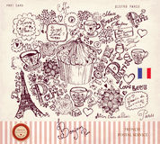 Paris symbols Stock Photography