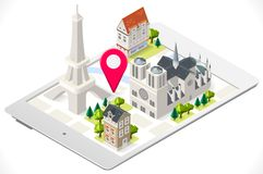 Paris on a Tablet Royalty Free Stock Images
