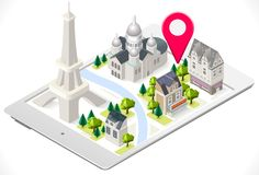 Paris on a Tablet Royalty Free Stock Photos
