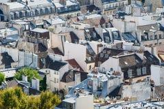 Paris tak som ses från torn av Notre Dame royaltyfria bilder