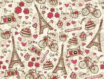 Paris tappningbakgrund Arkivfoto