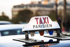Paris - Taxi Stock Photo