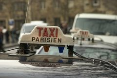 Paris Taxi. Here's what to look for if you need a taxi in Paris Royalty Free Stock Photos