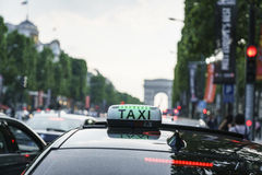 Paris taxi Royaltyfri Foto
