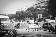 Paris taxi Royaltyfri Bild