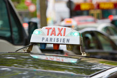 Paris taxi in Paris, France Stock Photos