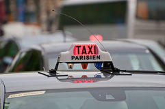Paris Taxi sign Royalty Free Stock Photos