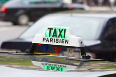 Paris taxi sign in Paris, France Stock Photography