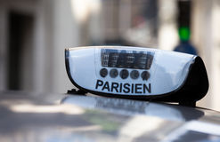 Paris taxi royalty free stock photography