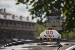 Paris Taxi Sign Stock Photos