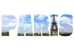 Paris tecken Arkivbild