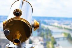 paris teleskop royaltyfri fotografi
