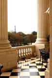 PARIS: Terrass i slotthotell Fotografering för Bildbyråer