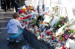 Paris terreur attaque en novembre 2015 Images stock