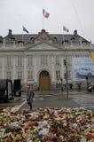 PARIS TERROER ANFALLEN _FRENCH AMBASSAD I KÖPENHAMN Royaltyfria Foton