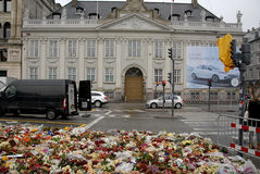 PARIS TERROER ANFALLEN _FRENCH AMBASSAD I KÖPENHAMN Royaltyfri Bild