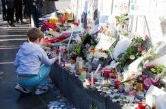 Paris terror ataque novembro de 2015 Imagens de Stock