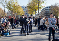 Paris terror attack november 2015 Stock Images