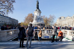 Paris terror attack november 2015 Royalty Free Stock Image