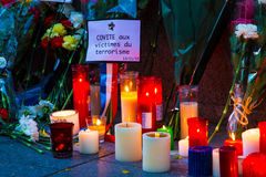 Paris terrorism attack Stock Photography