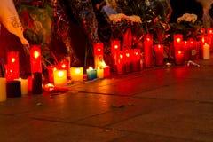 Paris terrorismattack Royaltyfri Fotografi
