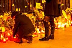 Paris terrorismattack Royaltyfria Foton