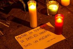 Paris terrorismattack Fotografering för Bildbyråer