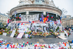 Paris Terrorist Attacks Remembrance Stock Photography