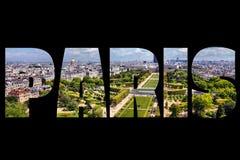 Paris text Fotografering för Bildbyråer
