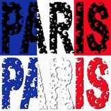 Paris text euro grunge Stock Photos