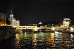 Paris Thames bridge Stock Photos