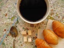 Paris theme. France symbols flat layout background Stock Image