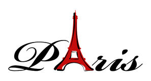 Paris theme print Stock Photo