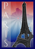 Paris theme template Stock Photos