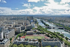 Paris TiltShift Stockbilder