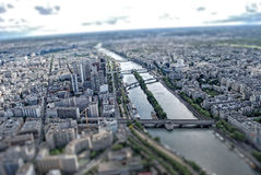 Paris TiltShift Lizenzfreies Stockfoto