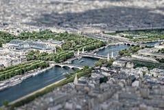 Paris TiltShift. View of Paris. Tilt shift Stock Photography